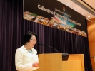 Dr. Rebecca Ho delivered the speech on behalf of Dr. Gallant Ho